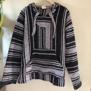 Baja Mexican surf sweater hoodie poncho